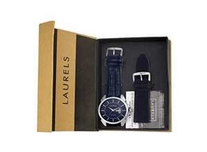 Laurels Invictus 8 Analog Blue Dail Men's Watch