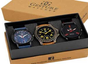 Gesture Multicolor Analog Watches Pack of 3