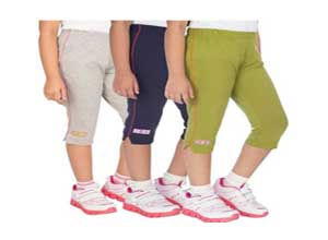 OCEAN RACE Girls Stylish attarctive colors Cotton Capris