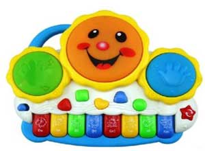 Drum Keyboard Musical Toys with Flashing Lights