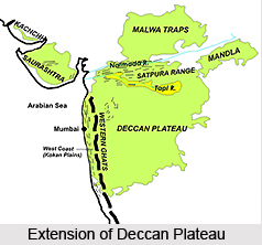 Deccan Plateau Central Highlands In India