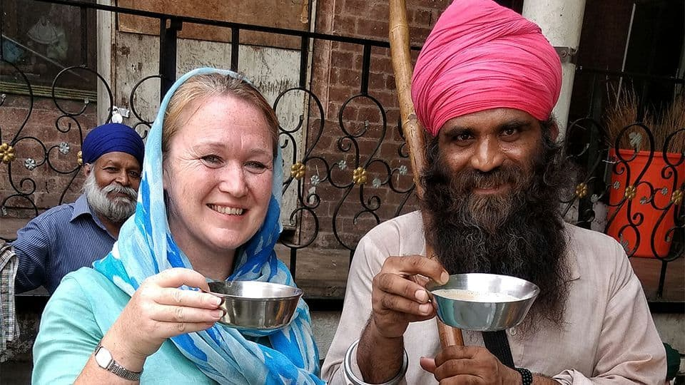 Amritsar chai with a local