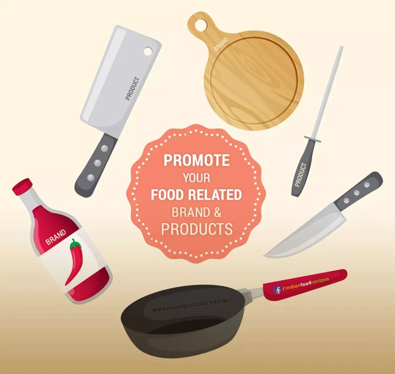 Promote food cooking related products brands
