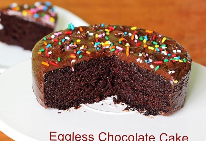 Eggless Chocolate Cake Swasthis Recipes