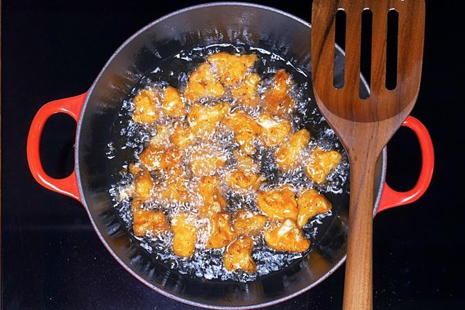 golden fried gobi for manchurian