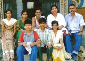Neena Jha, Shivnath Jha and Tope's family after rehabilitation