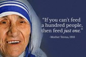 Mother Teresa inspires with her saintly love