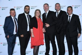 Fastway Couriers win Community Service Award