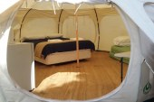New Glamping tents make camping a pleasure