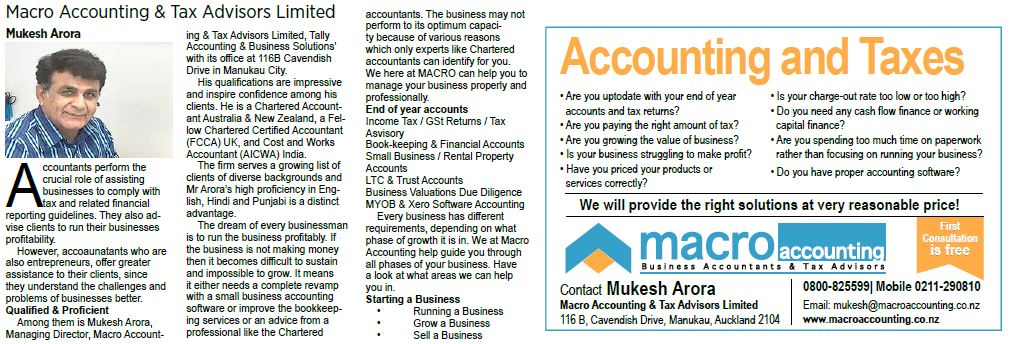 Macro Accounting & Tax Advisors Limited