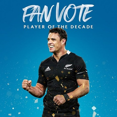 Dan Carter named Rugby Player of the decade