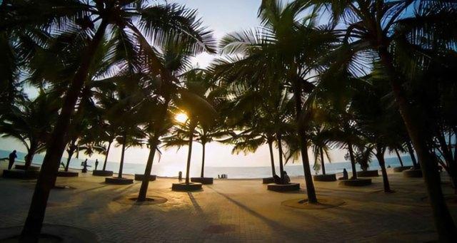 A beautiful view of Padubidri beach in Karnataka.