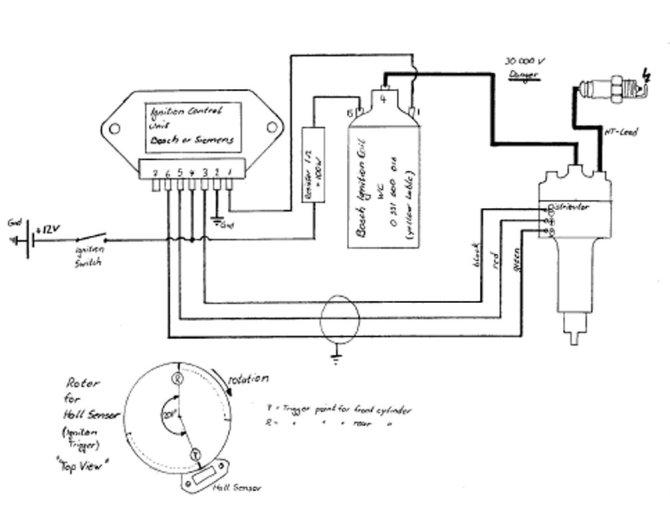 diagram ford electronic distributor wiring diagram full