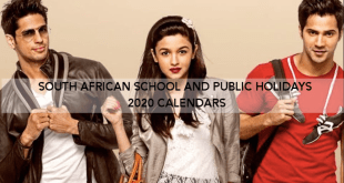 2020 SOUTH AFRICA SCHOOL PUBLIC HOLIDAYS