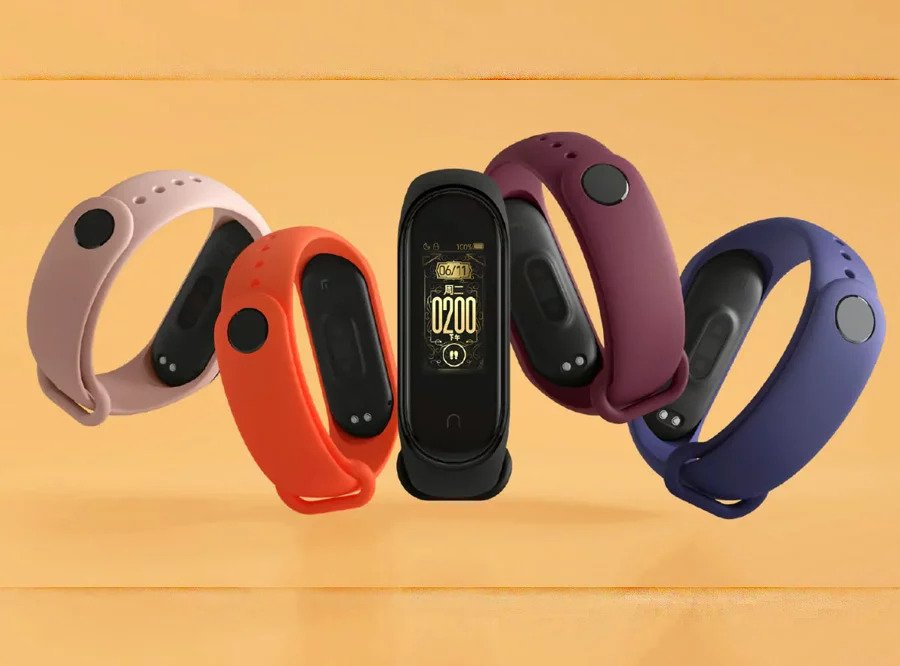 Xiaomi Mi Band 4 Design and Siplay Sample along with different colors available