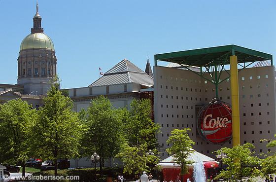 World of Coca Cola Museum and Capitol Dome, Atlanta