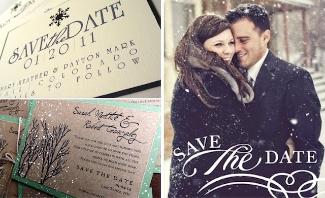 Save The Date Holiday Wedding - IndianWeddingCards
