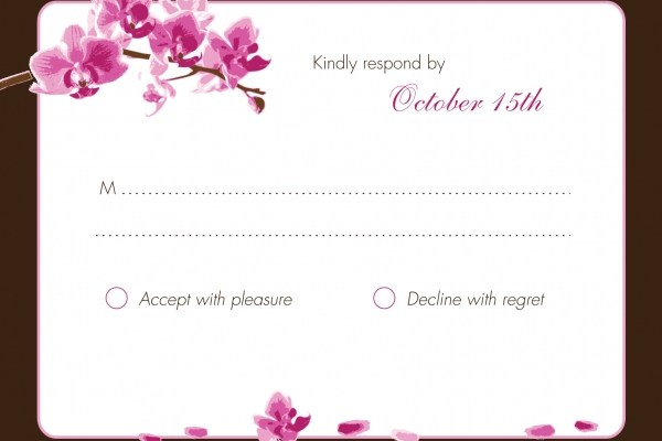 orchid rsvp cards