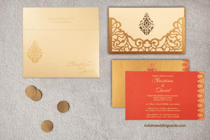 Laser cut wedding invitations CD-8262D