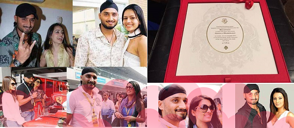 wedding cad of Harbhajan