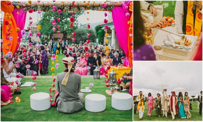 Bold Boho Hindu Wedding Theme - IndianWeddingCards