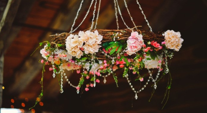 Floral Wedding Chandeliers 1 - IndianWeddingCards