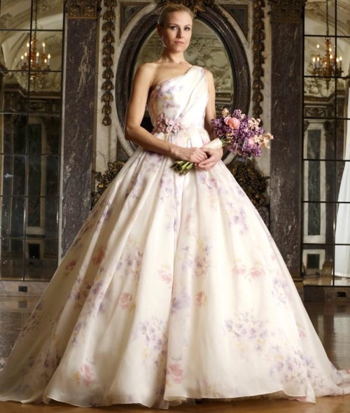 Floral Wedding Gowns 1 - IndianWeddingCards