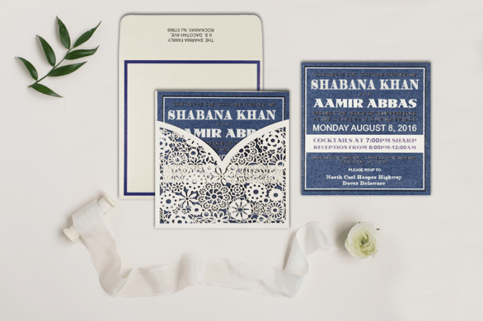 Muslim wedding Cards-CD-1593