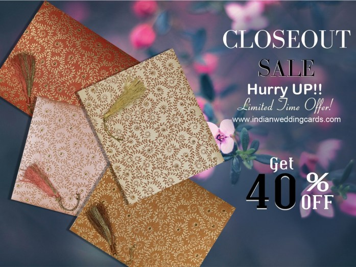 Closeout Sale - IndianWeddingCards