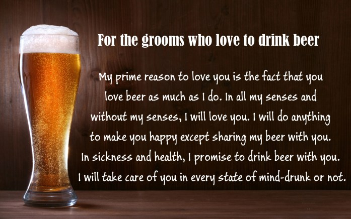 For the grooms who love to drink beer