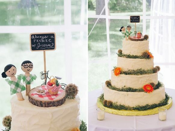 Picnic Inspired Wedding Cake - IndianWeddingCards