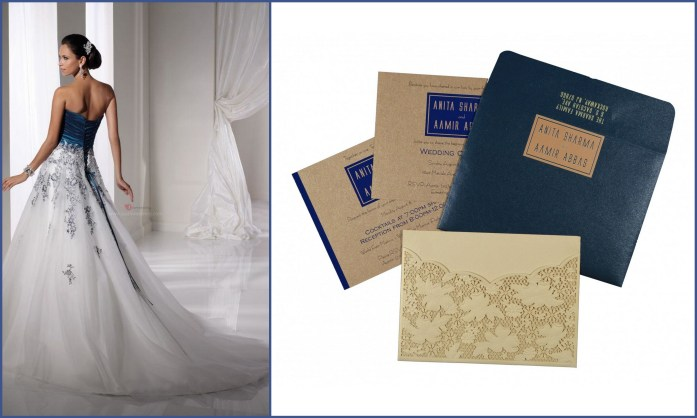 Contemporary Wedding Dress Invitation Style- IndianWeddingCards