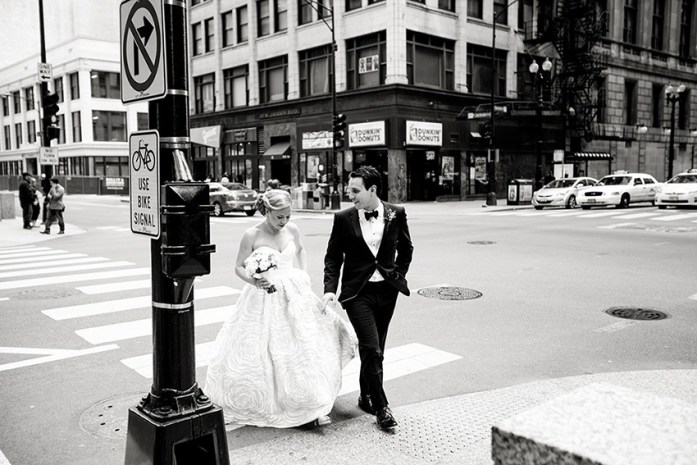 crossing-the-road-wedding-photograph