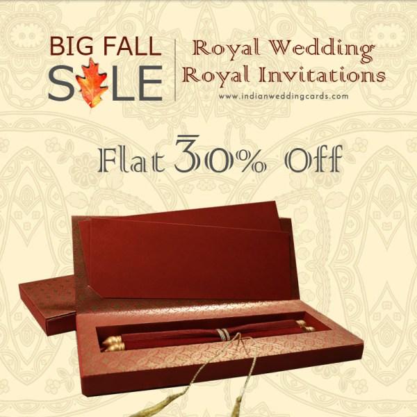 Scroll Wedding Cards Sale - IndianWeddingCards