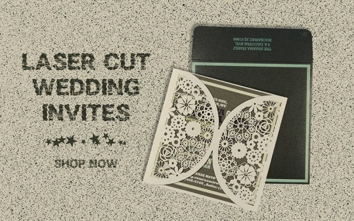 Laser cut wedding invitations cards-IndianWeddingCards