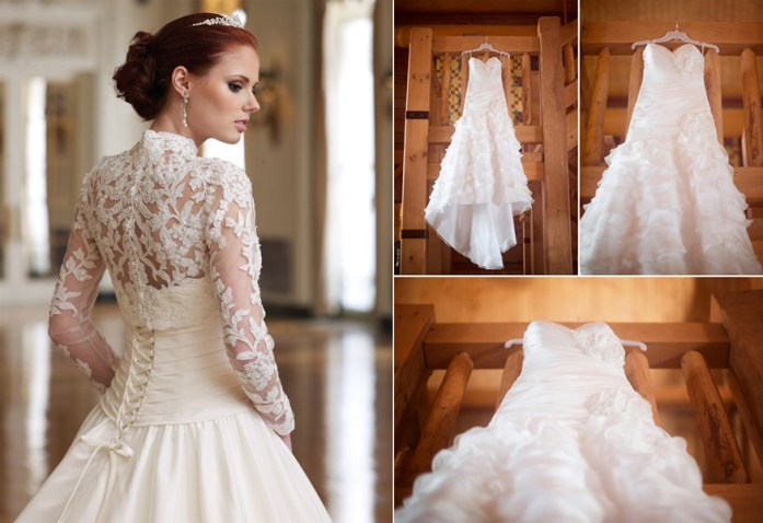 Christmas Inspired Wedding Ideas For Your Winter Wedding Bridal Gown 1