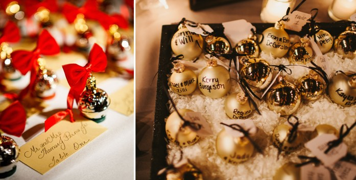Christmas Inspired Wedding Ideas For Your Winter Wedding Escort Cards