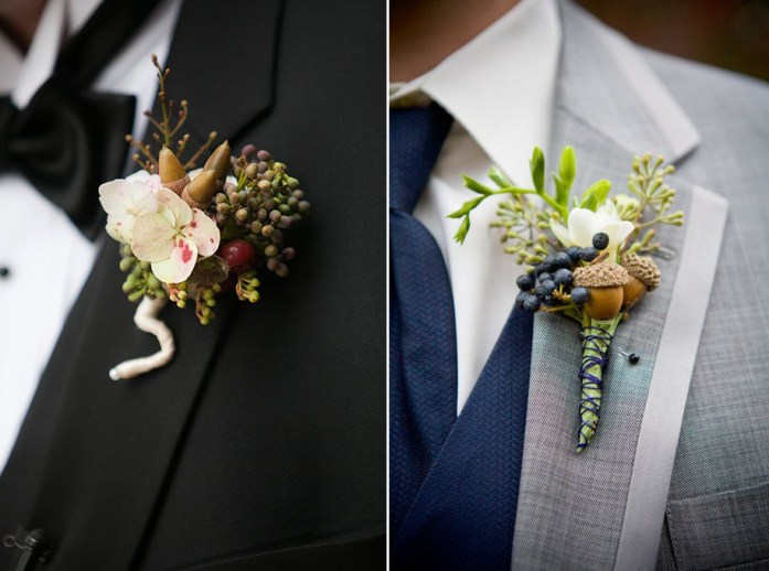 Christmas Inspired Wedding Ideas For Your Winter Wedding Groom Boutonniere
