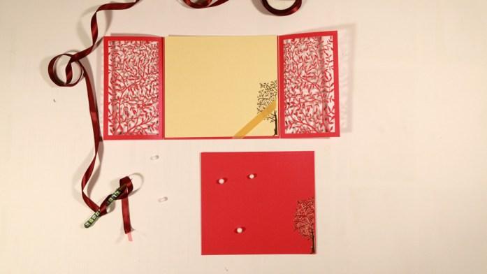 Hot Pink Laser Cut Wedding Invitaions 1