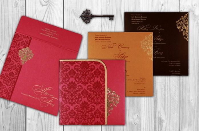 foil stamped invitation cards CD-1754