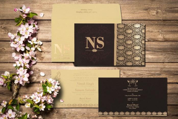 Disney themed wedding invitations CD-8261G-IndianWeddingCards