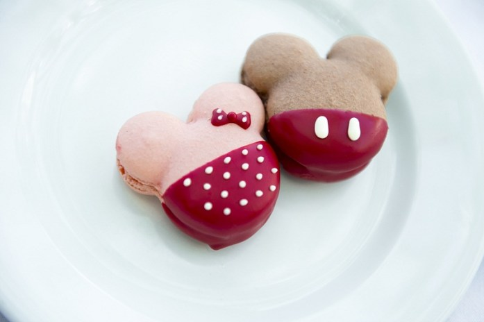 Mickey and Minnie inspired Macarons -Disney themed wedding ideas