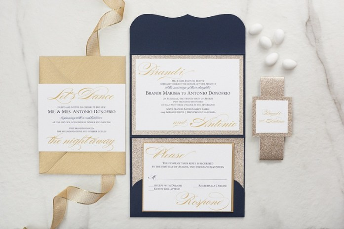 Glitter-wedding-invitations-