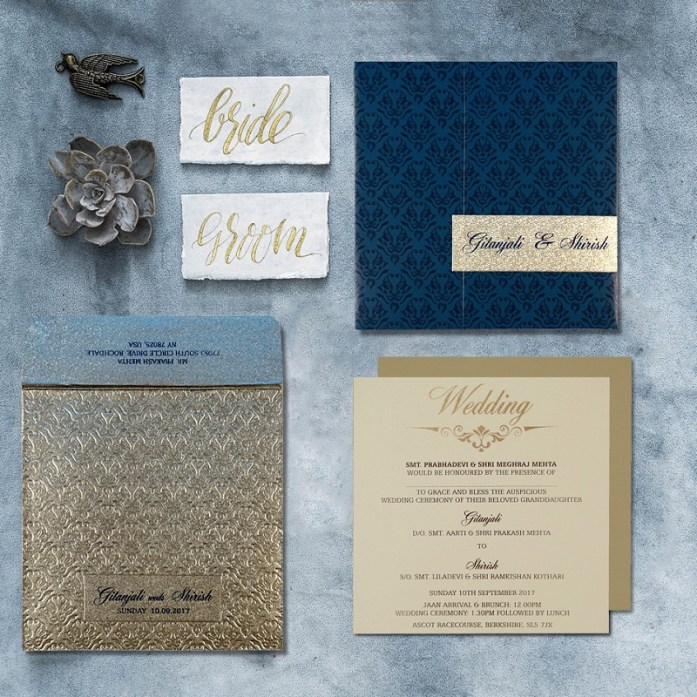 silver wedding cards CD-1702