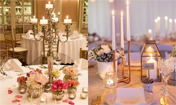 Fall wedding candelabra