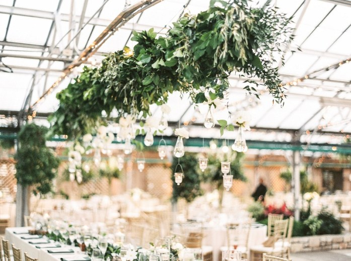 Floral draped celling