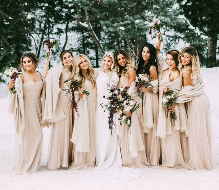 gorgeous pashminas bridesmaids