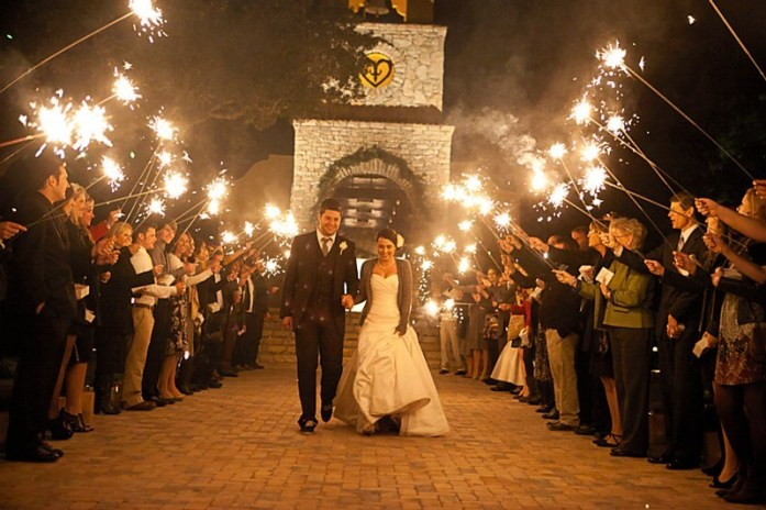 wedding portraits magical with sparklers 7