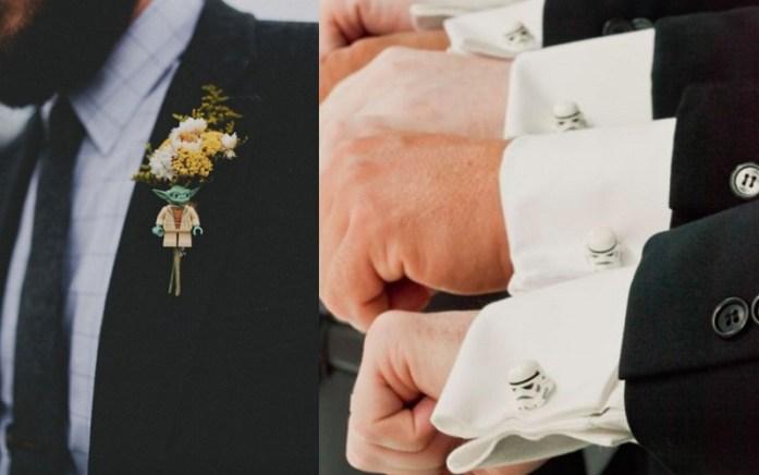 Lego star wars groom cufflinks