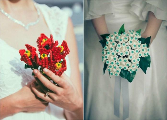 Lego wedding bouquet